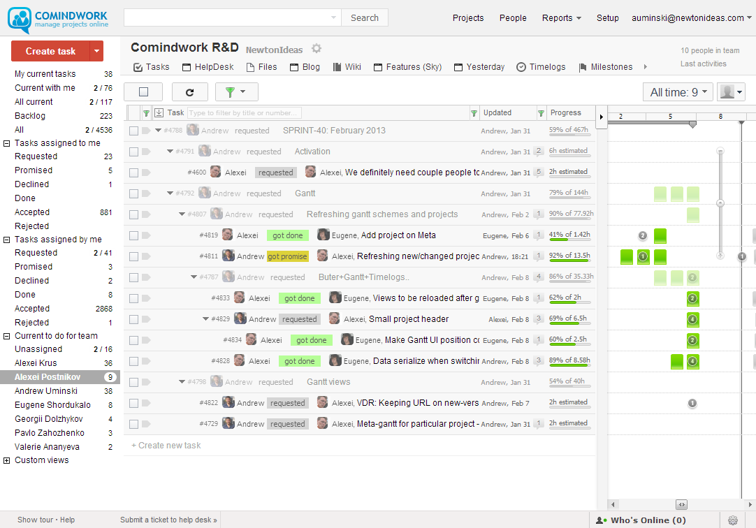Consolidate project information and discussions in one secure workspace